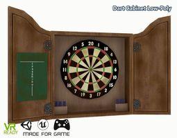 Dartboard Cabinet Low Poly 3D asset