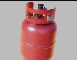 Gas cylinder small PBR Game-Ready 3D asset realtime