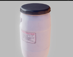 3D model Chemical barrel PBR Game-Ready