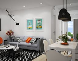 3D Living room HH2