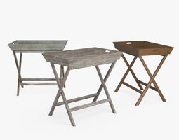 Ainsley Tray Table 3D
