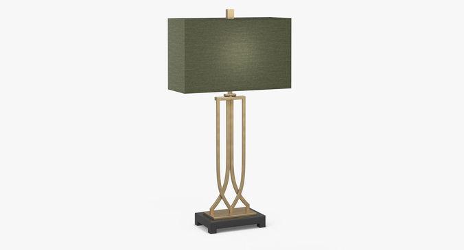 Art Deco Table Lamp Model Max Obj Mtl S Fbx 1