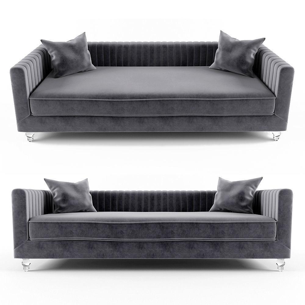 Trevon Fabric Sofa Chair with Acrylic legs