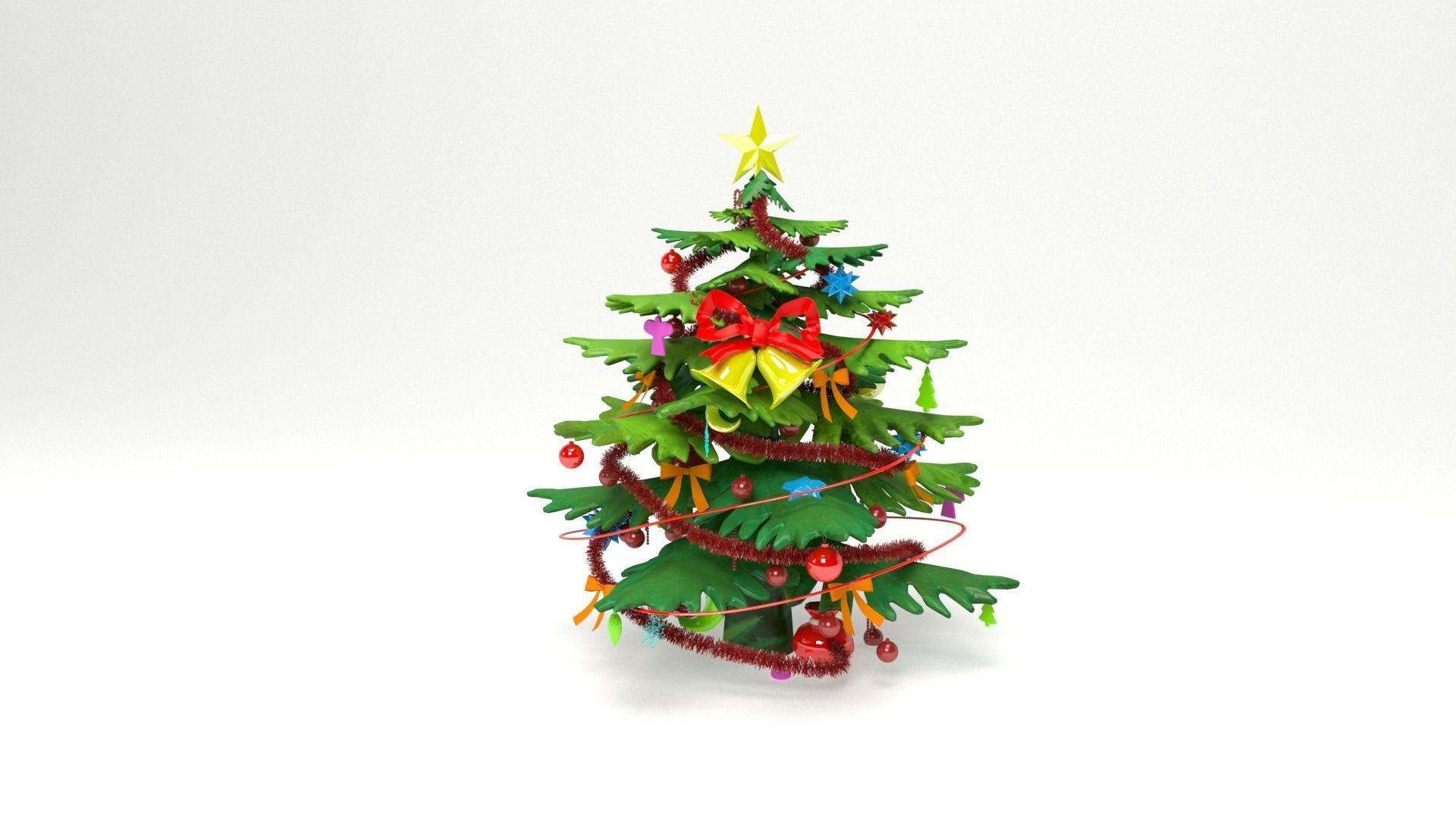 3d Christmas Tree.Christmas Tree Cartoon 3d Model