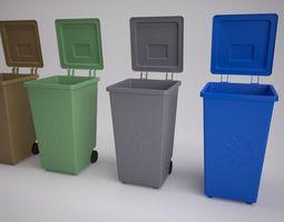 recycling bins 3d