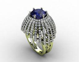 diamond-ring 3D printable model 8 ring N600