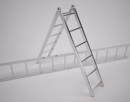 folding ladder 3d model