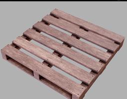 Wooden pallet PBR Game-Ready 3D asset