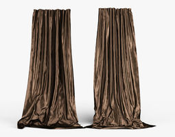 3D Silk Curtains