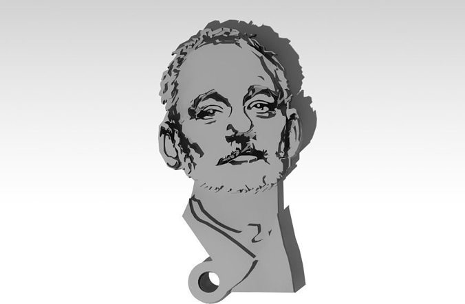bill murray bfm kcco thechive keychain free 3d