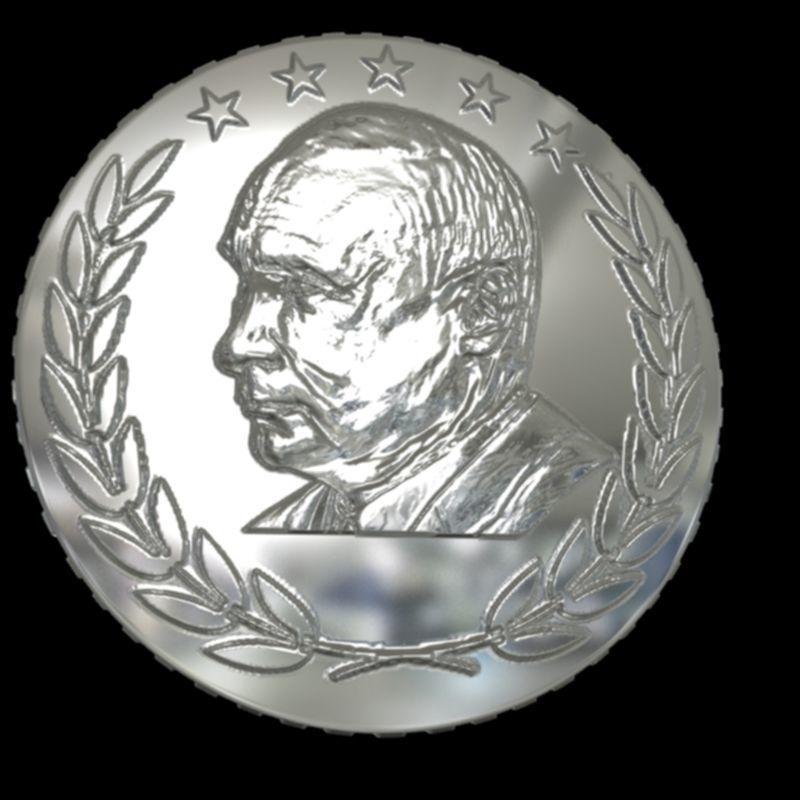 design coin Putin