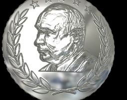 design coin Putin 3D printable model