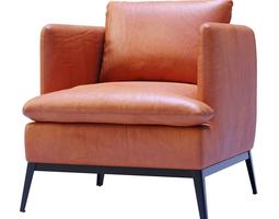 Lewis Classic Leather Chair-Cognac 3D