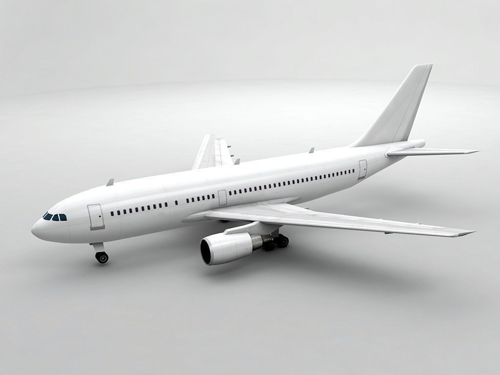 Airbus A310-300 Airliner - Generic White | 3D model