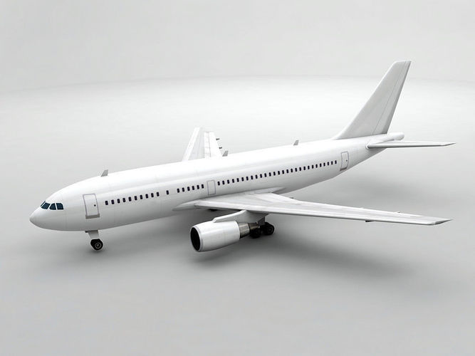 airbus a310-300 airliner - generic white 3d model low-poly max obj 3ds dxf stl wrl wrz 1