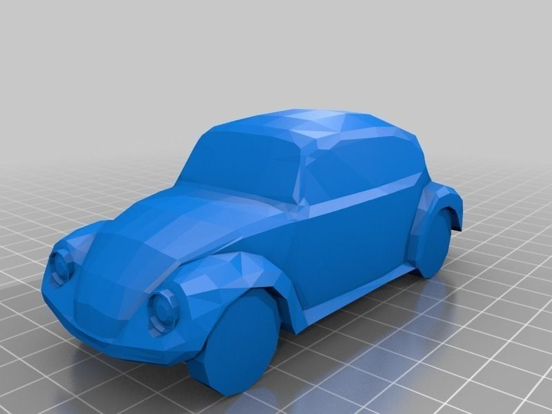 VW Beetle 3D Model 3D printable STL SKP | CGTrader.com