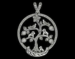 3D printable model Bird Tree of Life Pendant