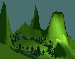 3D model low-poly Natural landscape