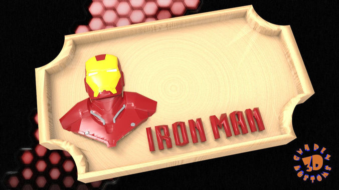 Iron Man Bedroom Door Sign Template 3d Printable Model