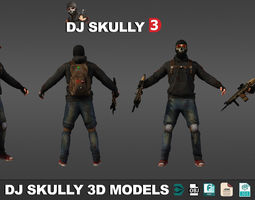Dj Skully 3D Models Low Poly low-poly