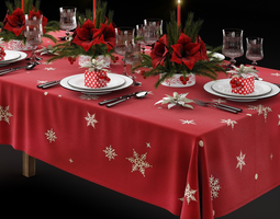 3D Christmas tableware