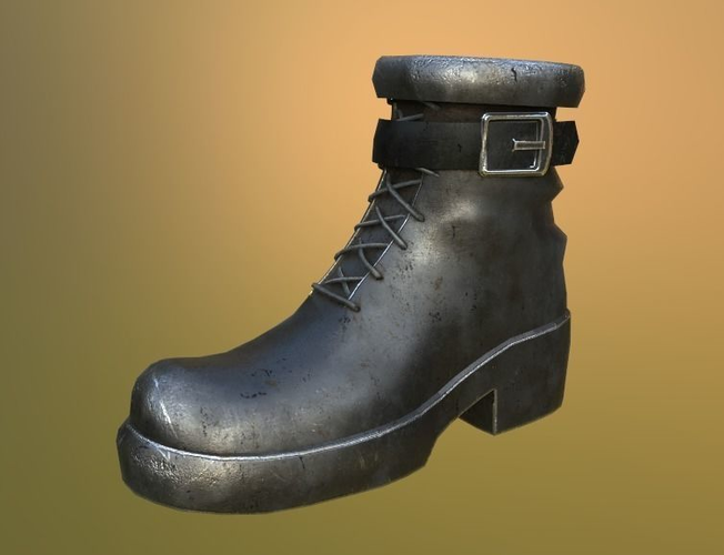 army boots 3d model low-poly max obj mtl blend 1