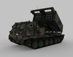 3D asset M270 MLRS