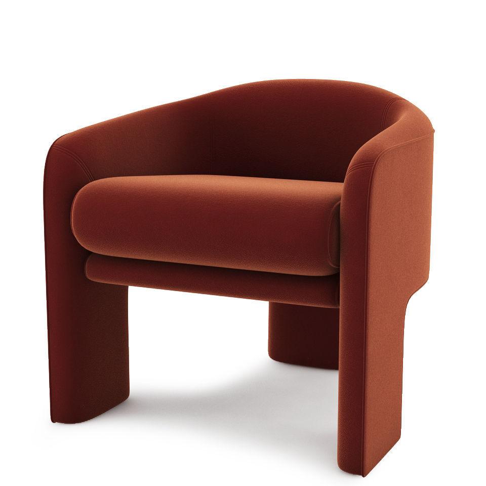 Mid century modern retro lounge chair 3d model