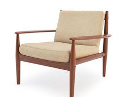Danish Teak Lounge chair 3D model