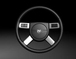 3D Dodge Steering Wheel