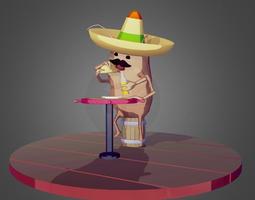 3D asset La Cucaracha