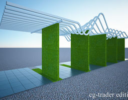 pergola- sun shade louvers 3D model crazyartist