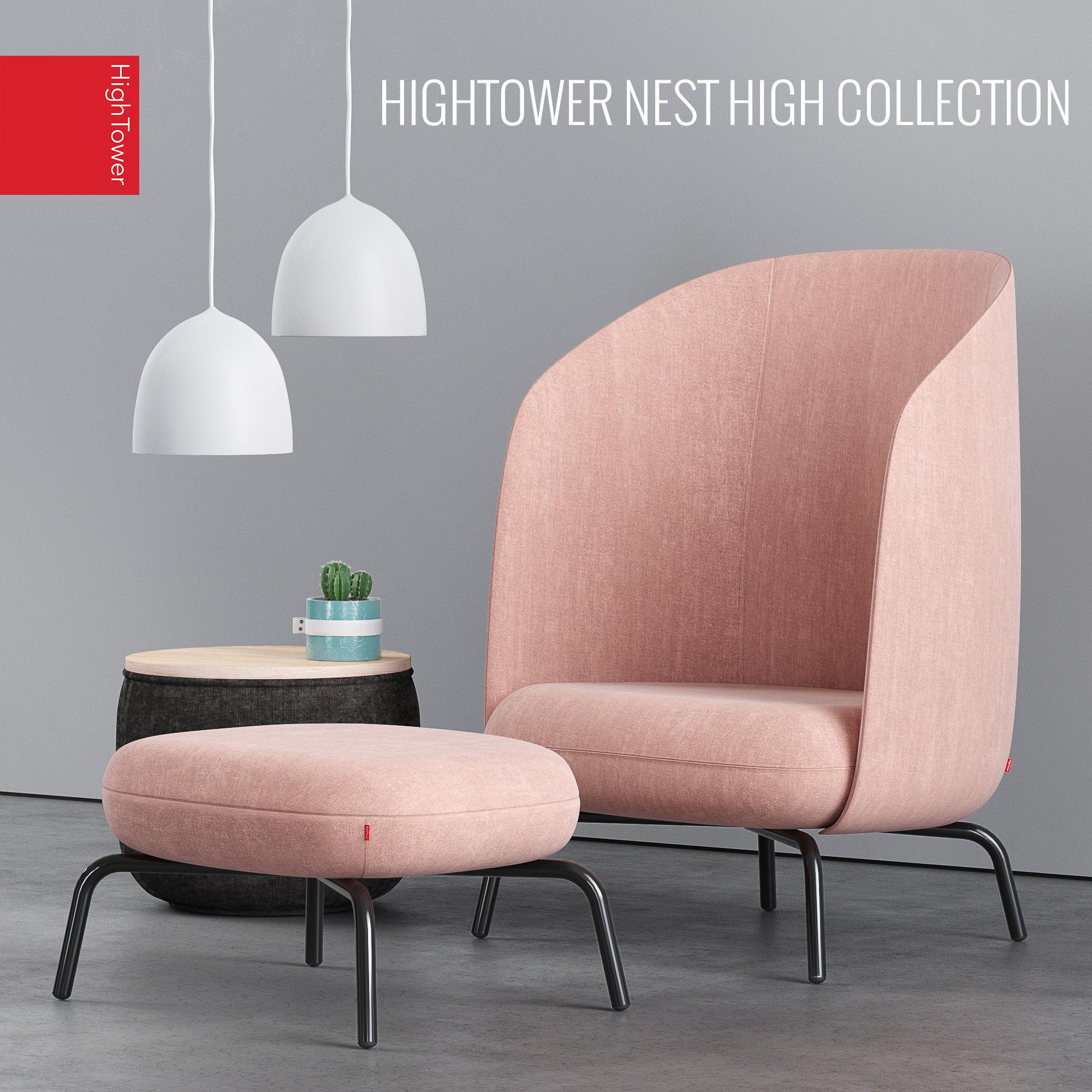 3d Model Hightower Easy Nest Chair Cgtrader