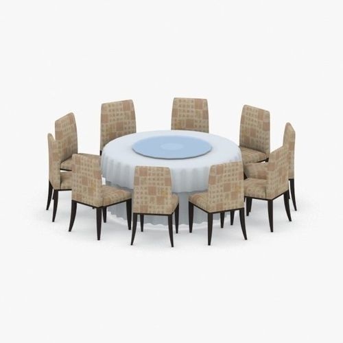0769 - table and chairs set 3d model max obj mtl 3ds fbx dae pdf 1