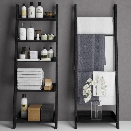 bathroom set 5 3d model max obj mtl 1