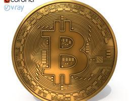 cash 3D model Bitcoin