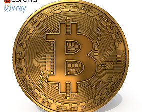pay Bitcoin 3D model