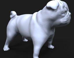 Pug dog 3D print model