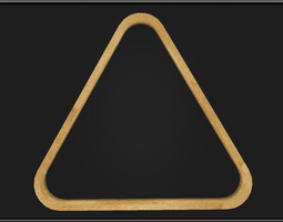 3D model Billiard Triangle Rack