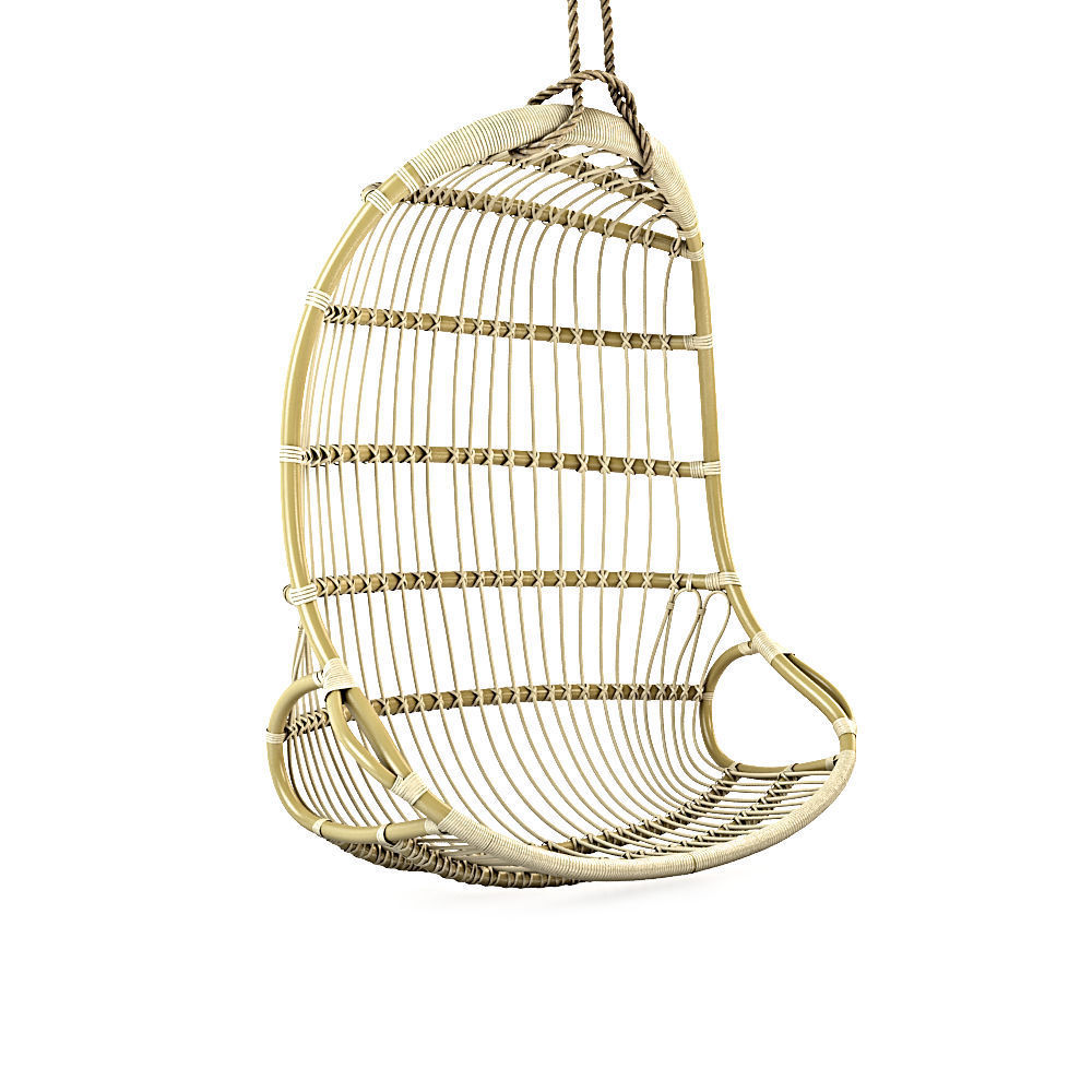 Hanging Rattan Chair 3d Model Max Obj Fbx 1 ...