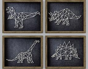 3D model Dinosaur String Art RH