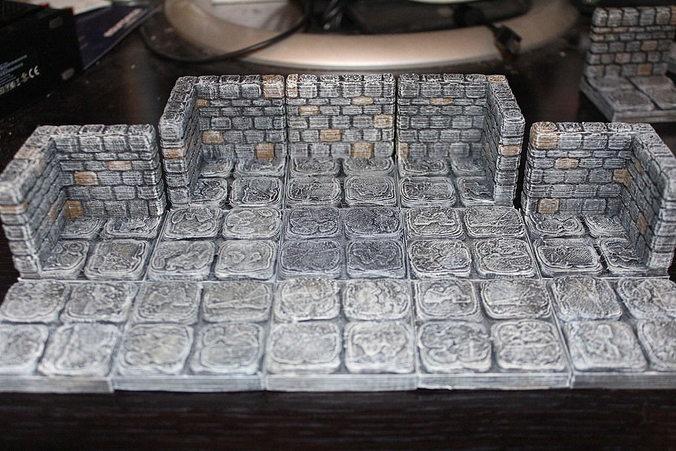 3d Printable Model Openforge Stone Dungeon Corner