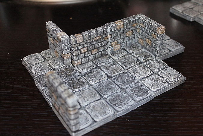 Hilaire image with 3d printable dungeon tiles