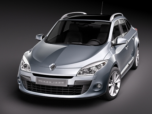 renault megane grandtour estate 2010 3 3d model max. Black Bedroom Furniture Sets. Home Design Ideas