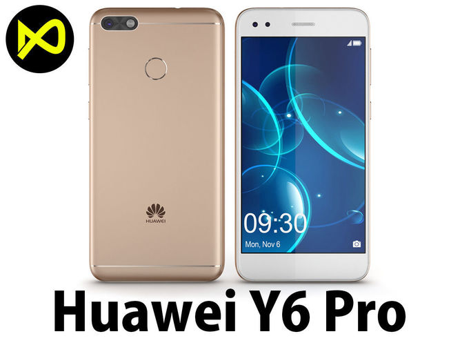 3d huawei p9 lite mini y6 pro 2017 gold cgtrader. Black Bedroom Furniture Sets. Home Design Ideas