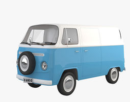 T2 Cartoon Van 3D