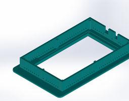 3D printable model 7 tft bezel Arduino mega