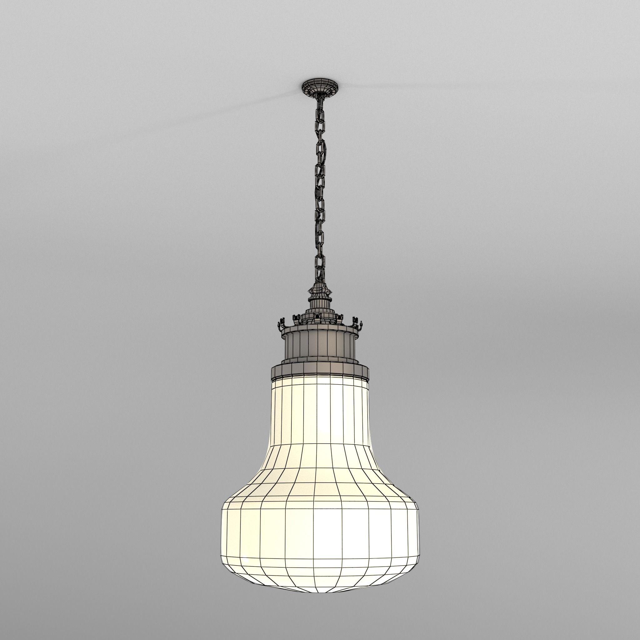 Art Deco Ceiling Light 3d Model Obj Fbx Ma Mb 2