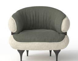 3D model MOROSO - Diesel Chubby Chic armchair