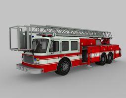 Ladder Fire Truck 3D asset